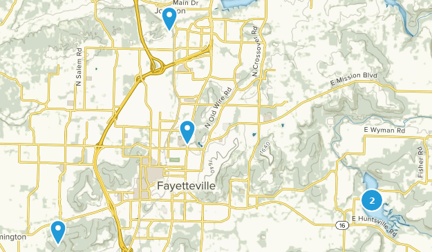 Fayetteville, Arkansas Wild Flowers Map