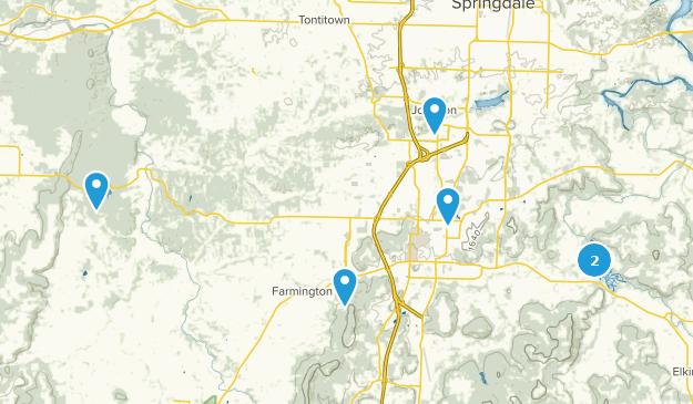 Fayetteville, Arkansas Wildlife Map