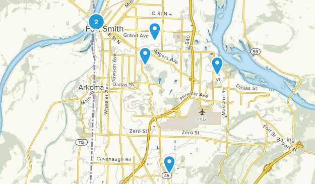 Fort Smith, Arkansas Kid Friendly Map