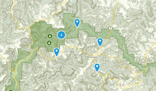 Jasper, Arkansas Hiking Map