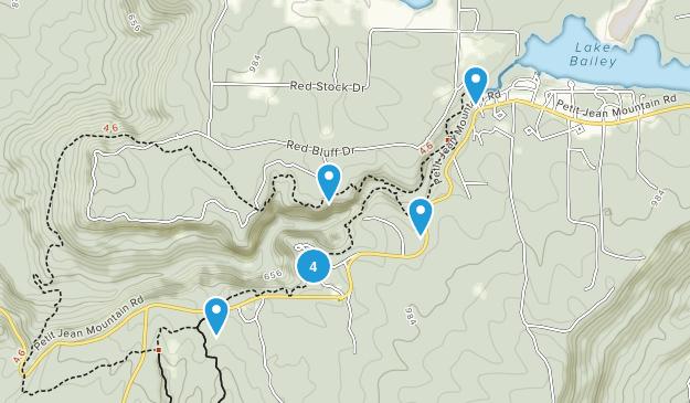 Morrilton, Arkansas Forest Map