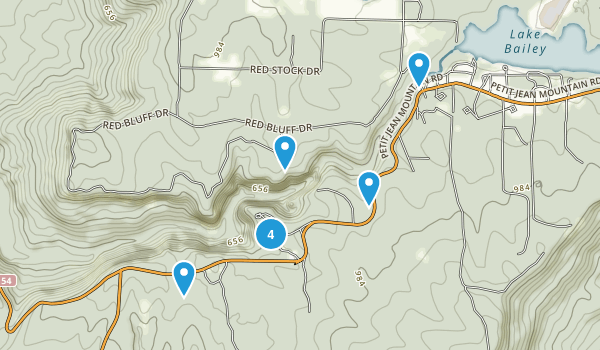 Morrilton, Arkansas Hiking Map