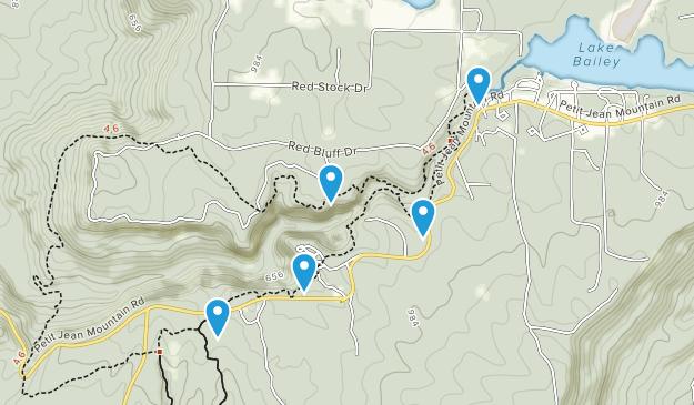 Morrilton, Arkansas Nature Trips Map