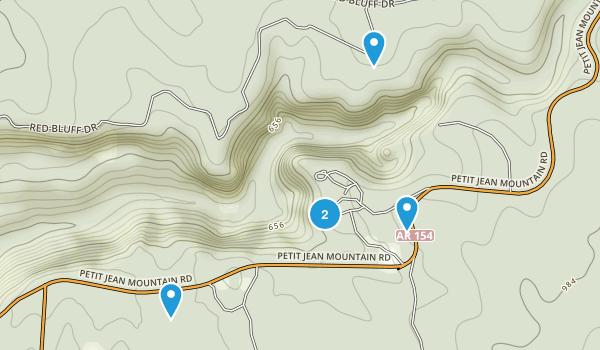 Morrilton, Arkansas Trail Running Map