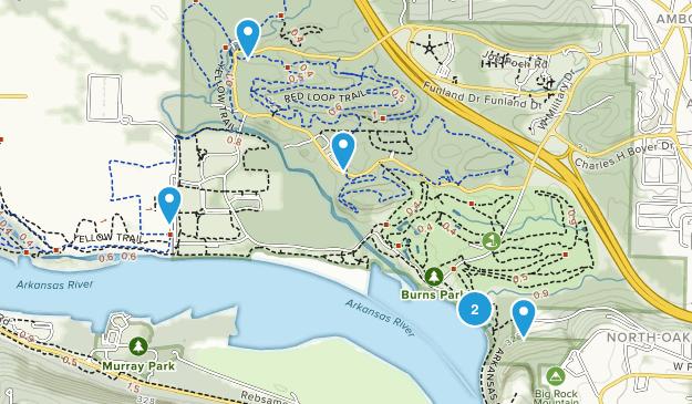 North Little Rock, Arkansas Hiking Map