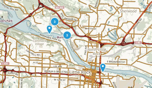 North Little Rock, Arkansas Trail Running Map