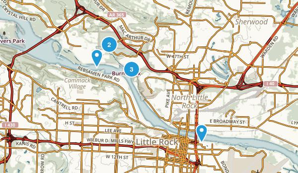 North Little Rock, Arkansas Walking Map