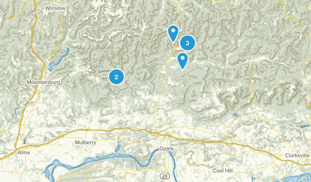 Ozark, Arkansas Nature Trips Map