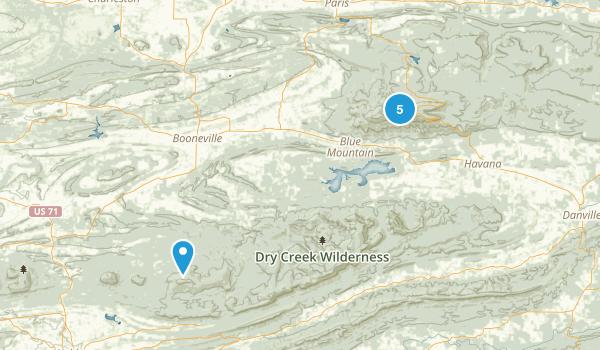 Paris, Arkansas Walking Map