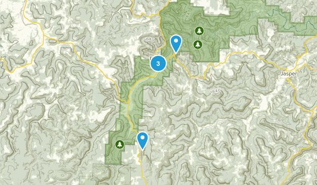 Ponca, Arkansas Birding Map