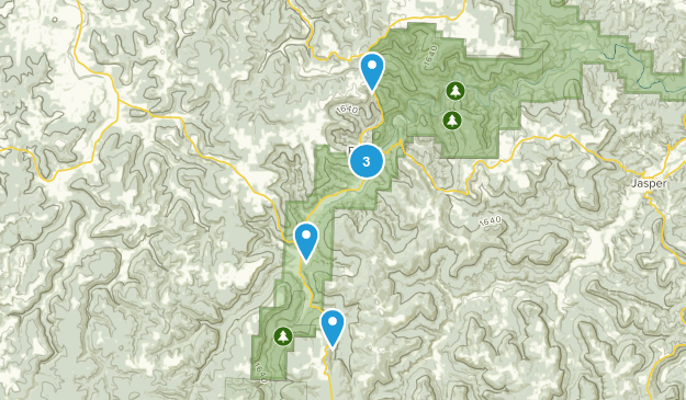 Ponca, Arkansas Forest Map