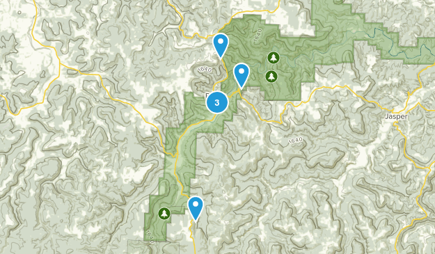 Ponca, Arkansas Hiking Map