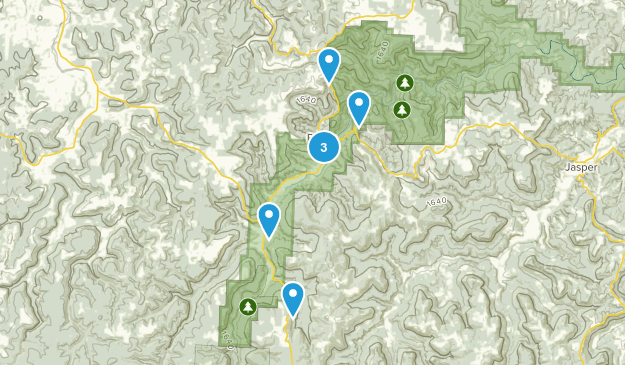 Ponca, Arkansas Views Map