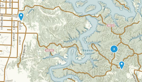 Rogers, Arkansas Mountain Biking Map