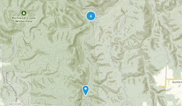 Witts Springs, Arkansas Walking Map