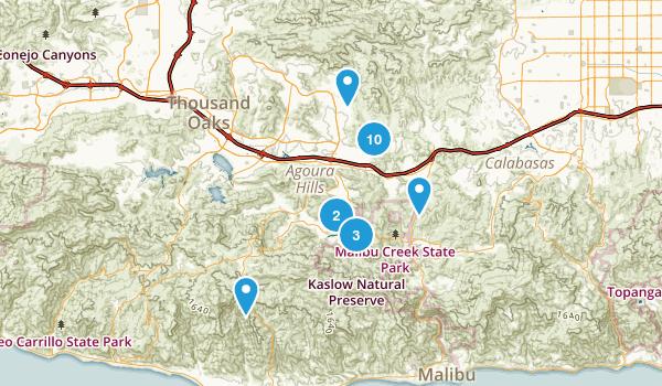 Agoura Hills, California Nature Trips Map