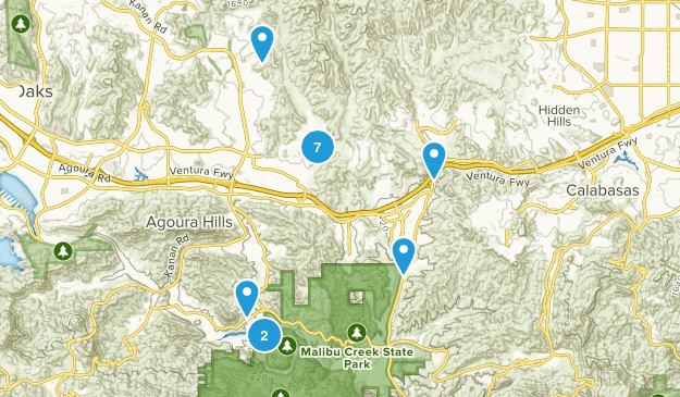 Agoura Hills, California Wildlife Map