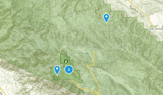 Aguanga, California Forest Map