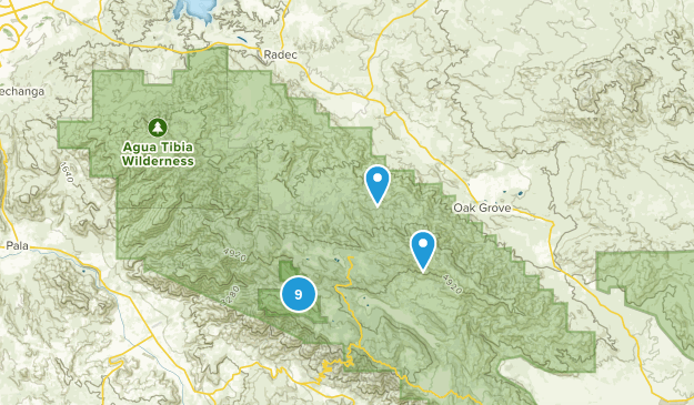 Aguanga, California Hiking Map