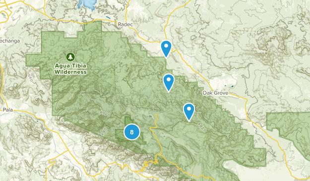 Aguanga, California Nature Trips Map