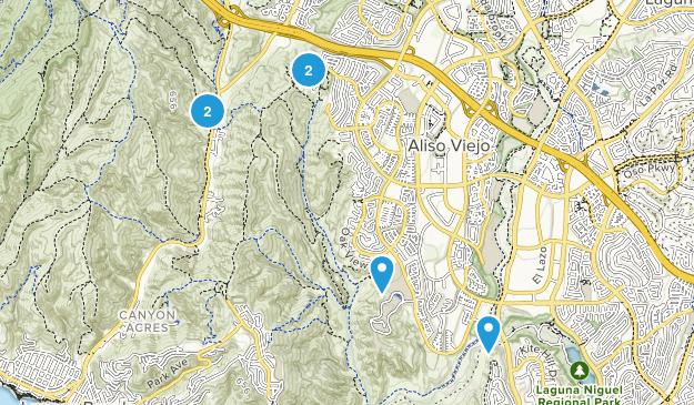 Aliso Viejo, California No Dogs Map