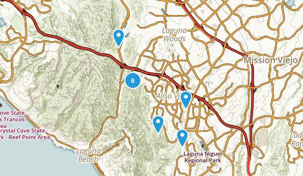 Aliso Viejo, California Hiking Map