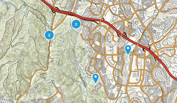 Aliso Viejo, California Mountain Biking Map