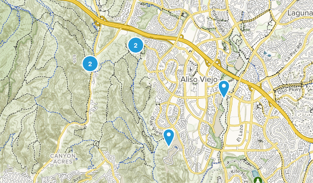 Aliso Viejo, California Mountain Biking Map