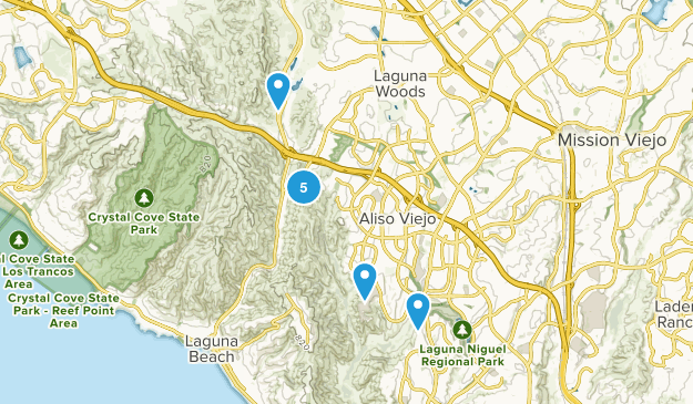 Aliso Viejo, California Nature Trips Map