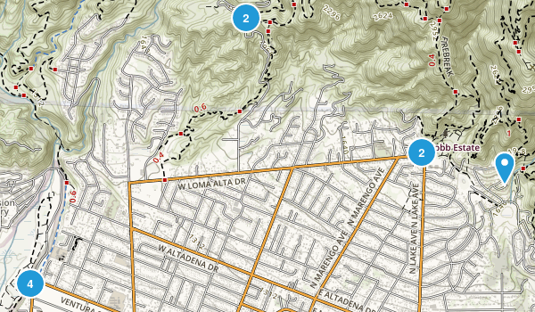 Altadena, California Dog Friendly Map