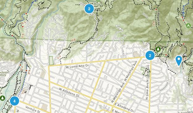 Altadena, California Dog Friendly Map
