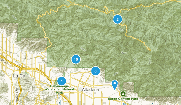 Altadena, California Nature Trips Map