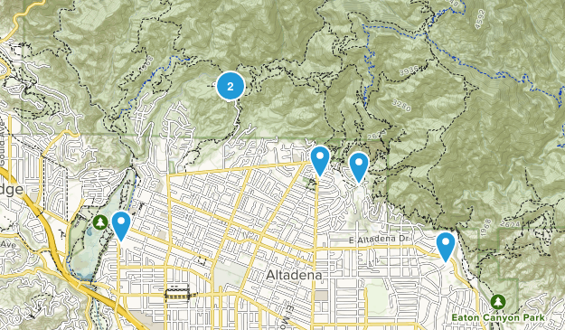 Altadena, California River Map