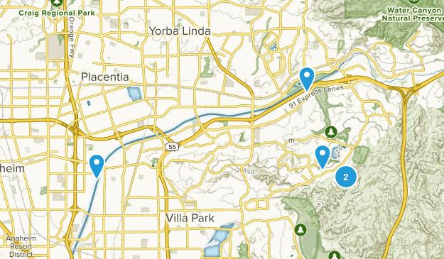 Anaheim, California Kid Friendly Map