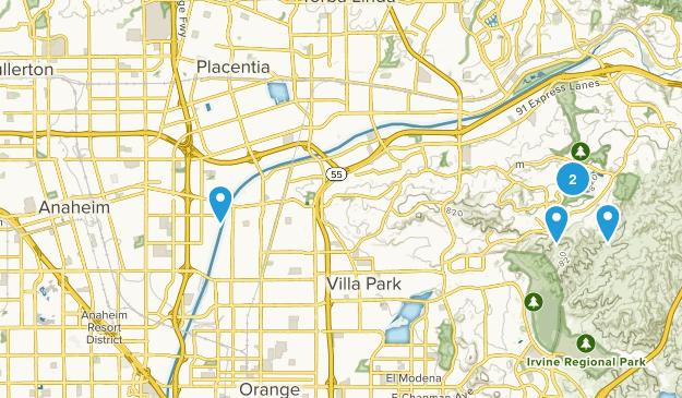 Anaheim, California Nature Trips Map