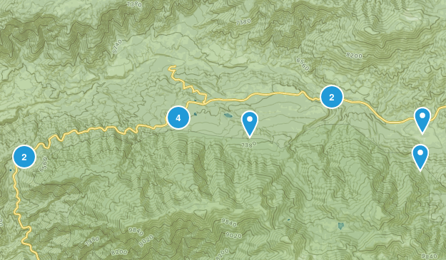 Angelus Oaks, California Trail Running Map