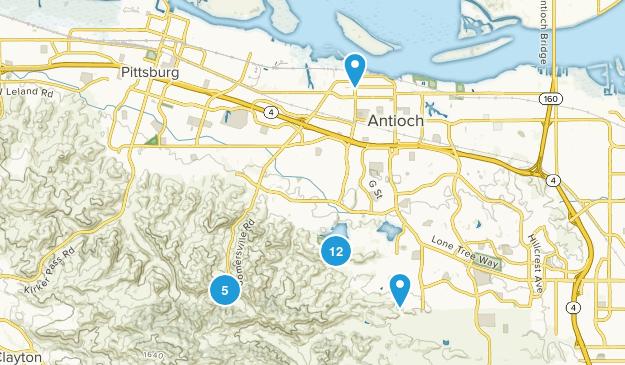 Antioch, California Birding Map