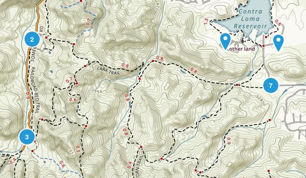 Antioch, California Mountain Biking Map