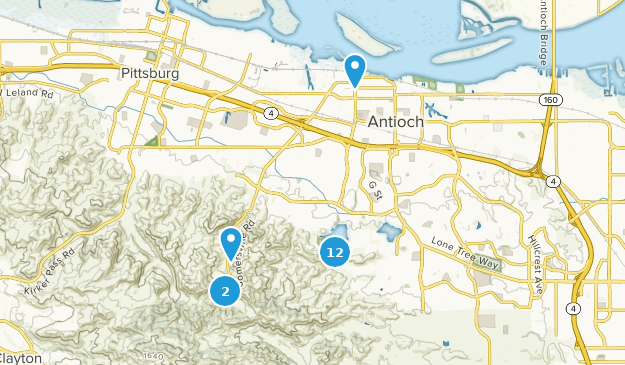 Antioch, California Nature Trips Map