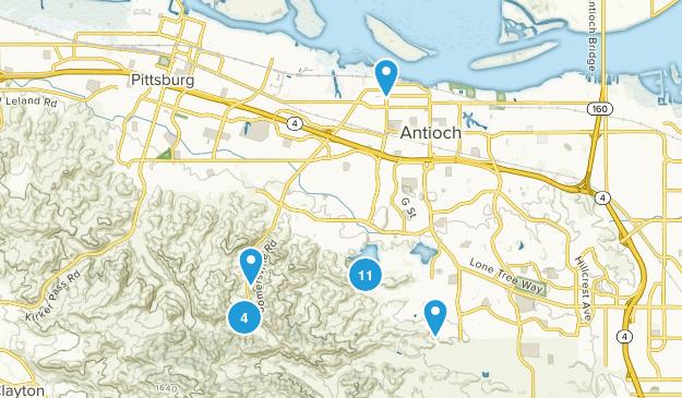 Antioch, California Views Map