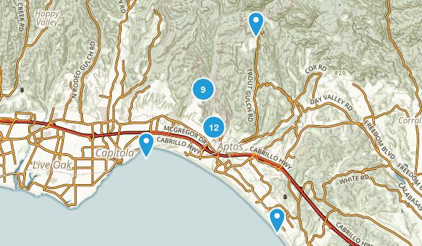 Aptos, California Hiking Map