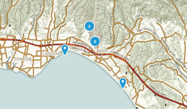 Aptos, California Kid Friendly Map