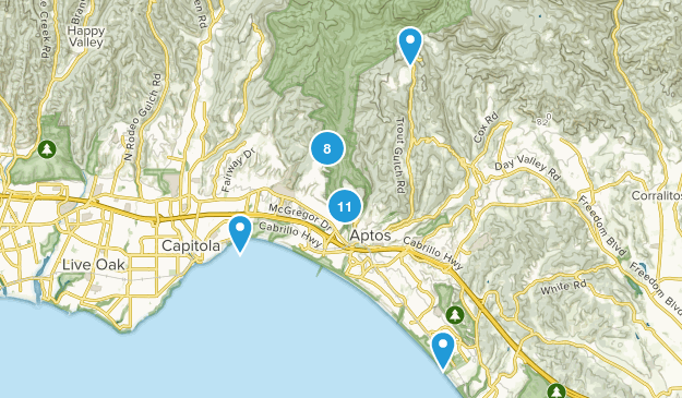 Aptos, California Nature Trips Map