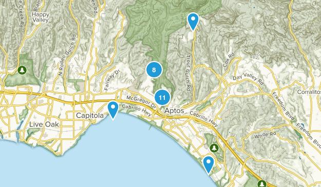 Aptos, California Walking Map