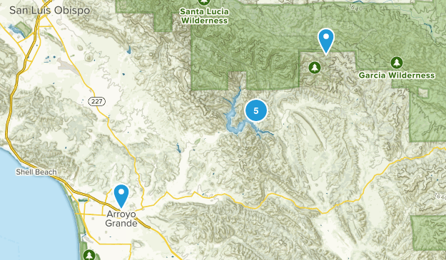 Arroyo Grande, California Dog Friendly Map