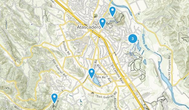 Atascadero, California Hiking Map