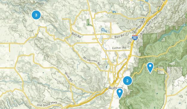Auburn, California Wild Flowers Map