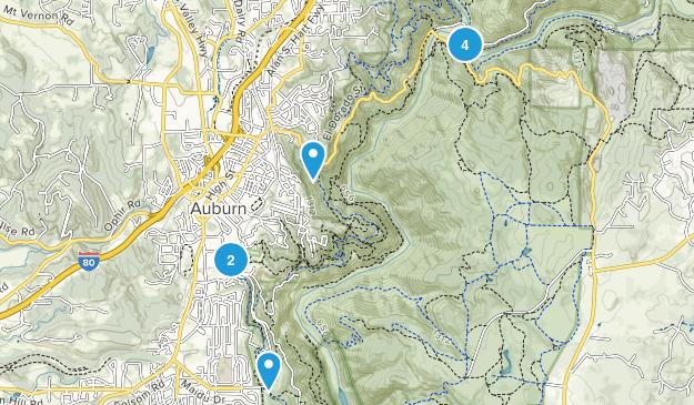 Auburn, California Wildlife Map