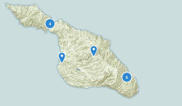 Avalon, California Beach Map