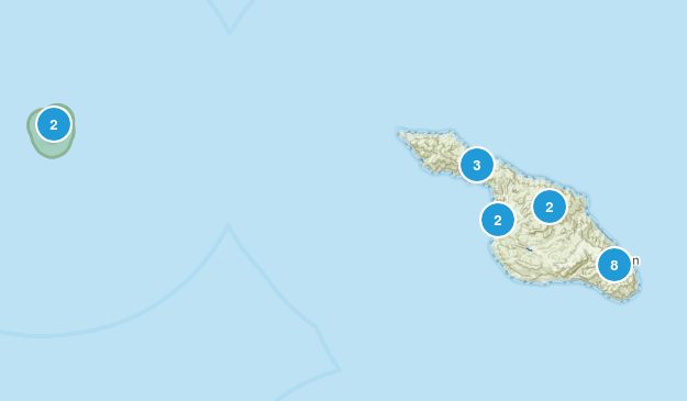 Avalon, California Hiking Map